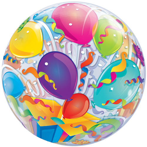 "22"" Happy Birthday Surprise Bubble Bubble"